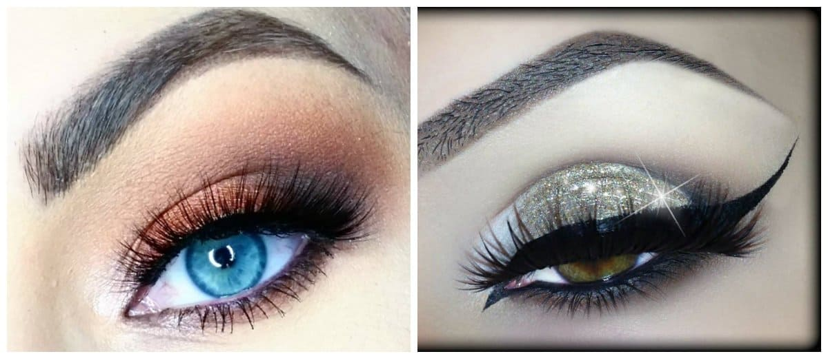 bridal makeup trends 2018, fashionable smokey eyes