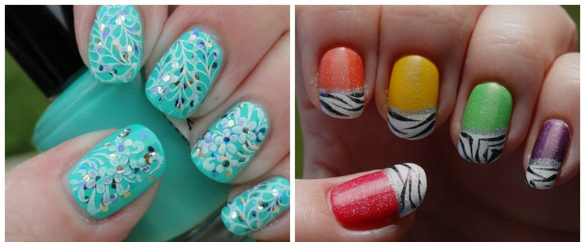 gel nail designs 2018, gel nail designs with decors