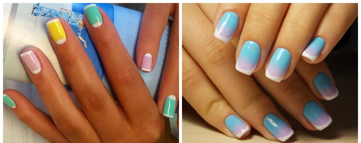 gel nail designs 2018, french gel nail designs