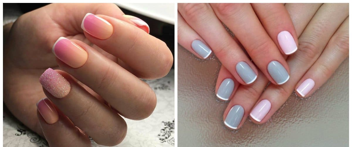 gel nail designs 2018, french gel nails