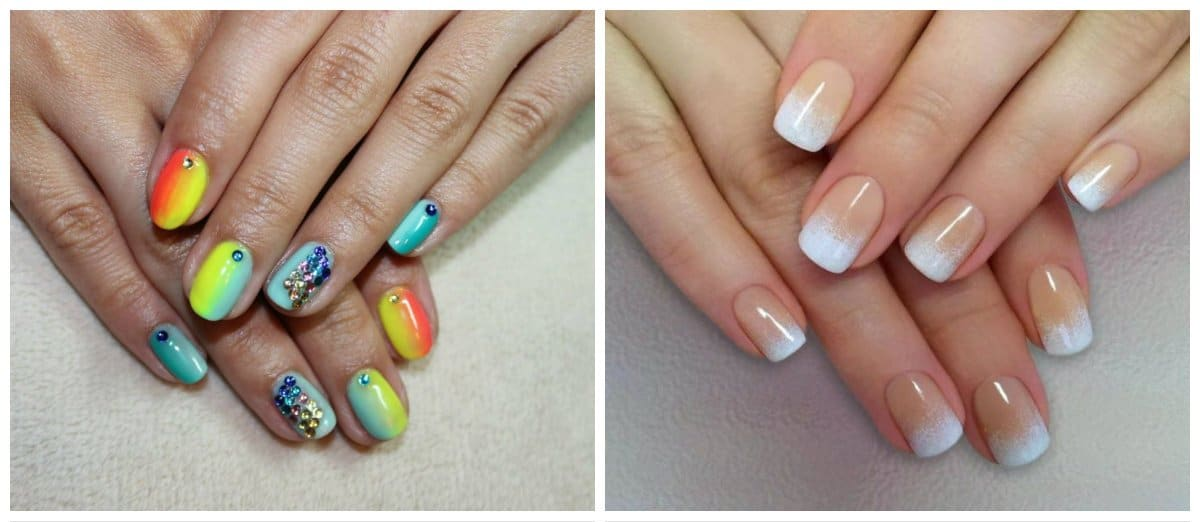 gel nail designs 2018, ombre gel nail designs