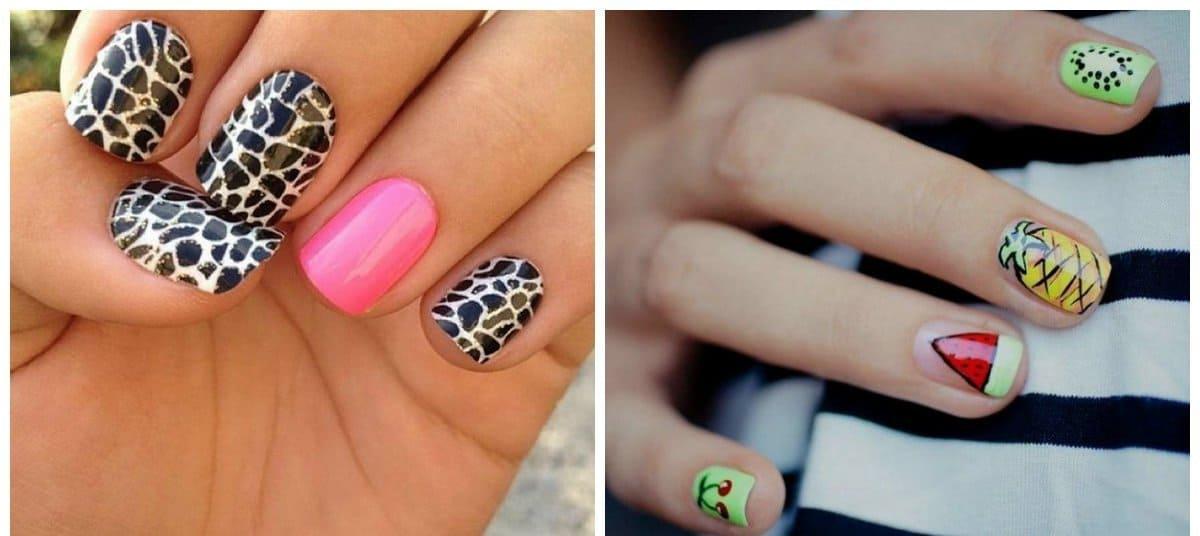 gel nail designs 2018, gel nails with prints