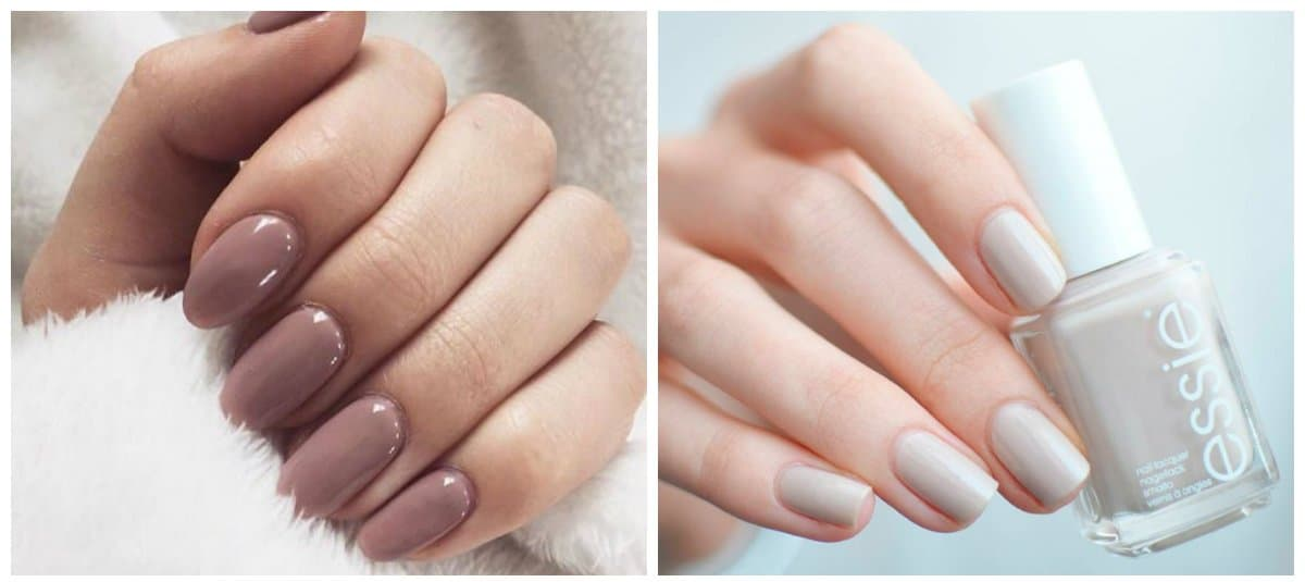 hot nail colors 2018, nude nail colors