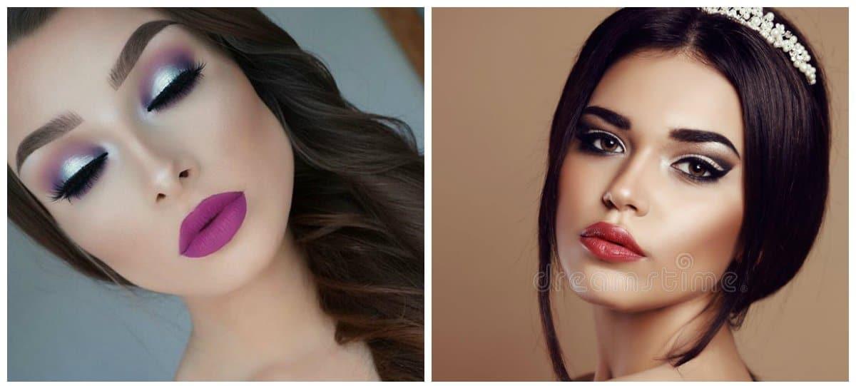 makeup styles 2018, evening makeup 2018 tips