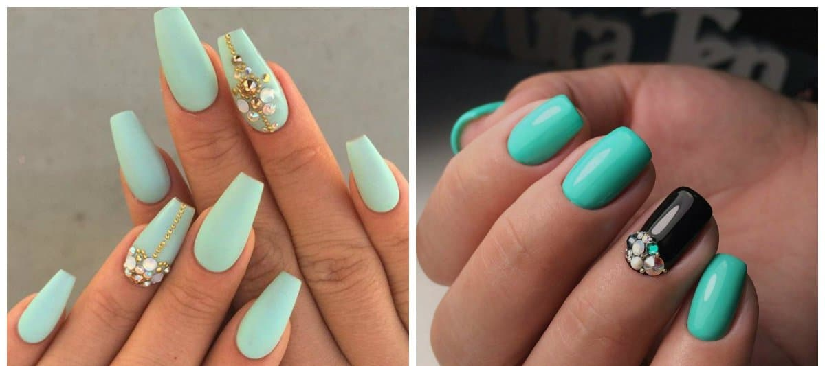 nail colour trends 2018, turquoise nails