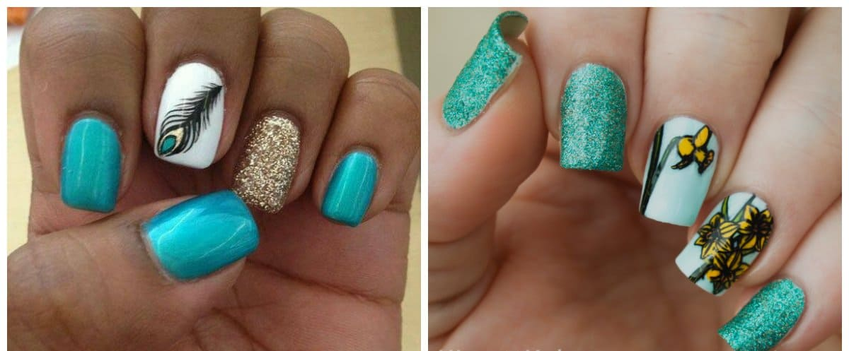 new nail colors 2018, aquamarine nails