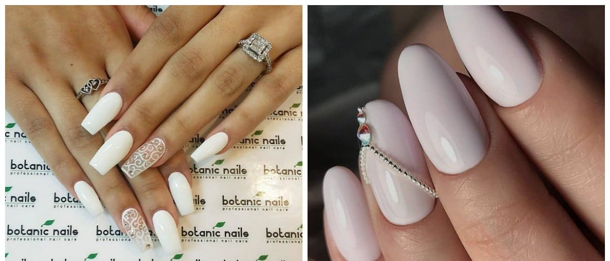 new nail colors 2018, fashionable white nails