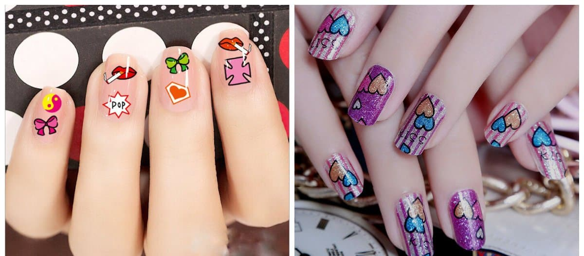 new nail designs 2018, nails with photo design