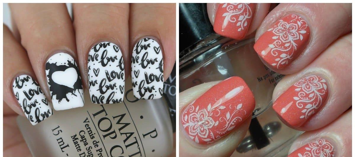 new nail designs 2018, stamping nail design