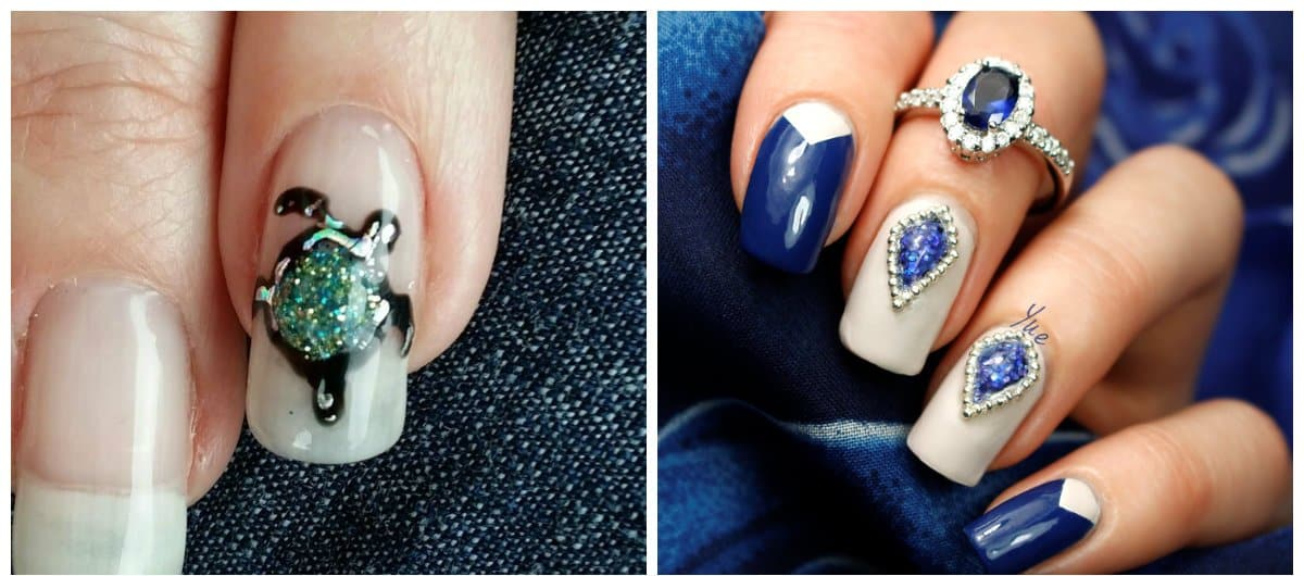 New nail art 2018: fashionable novelties and ideas of nail art 2018