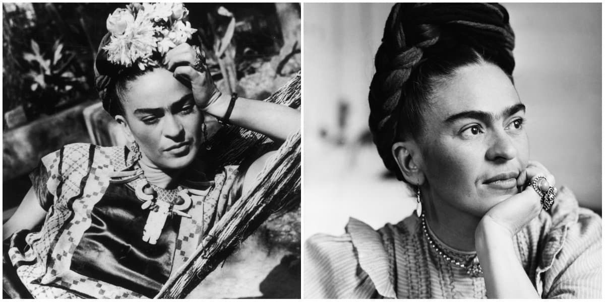 Frida Kahlo Clothing Style: Black and White photo: Archive