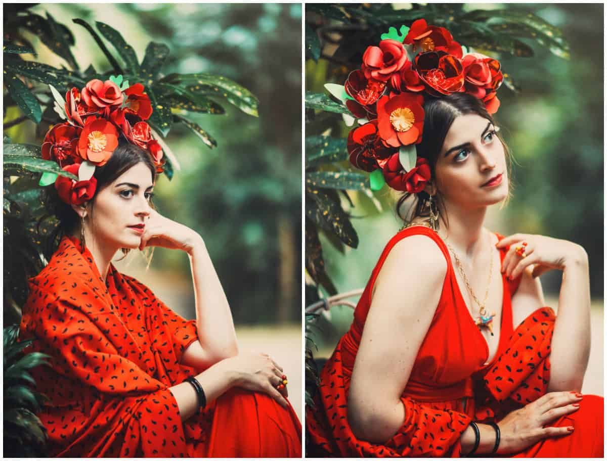 Frida Kahlo Clothing Styel: Red dress: Mexico as a source of motivation