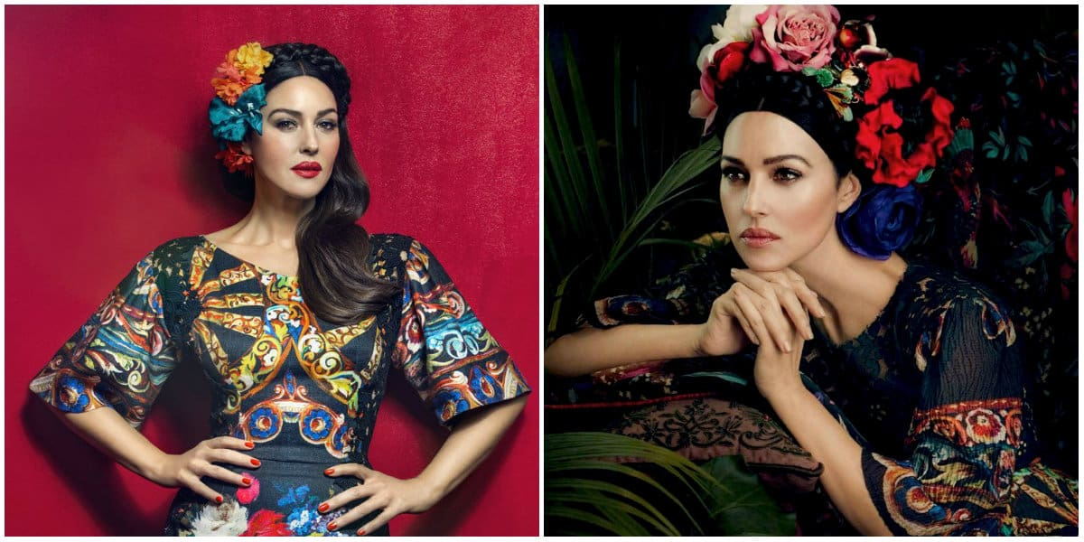Frida Kahlo Clothing Style: Movie Stars: Monica Belucci