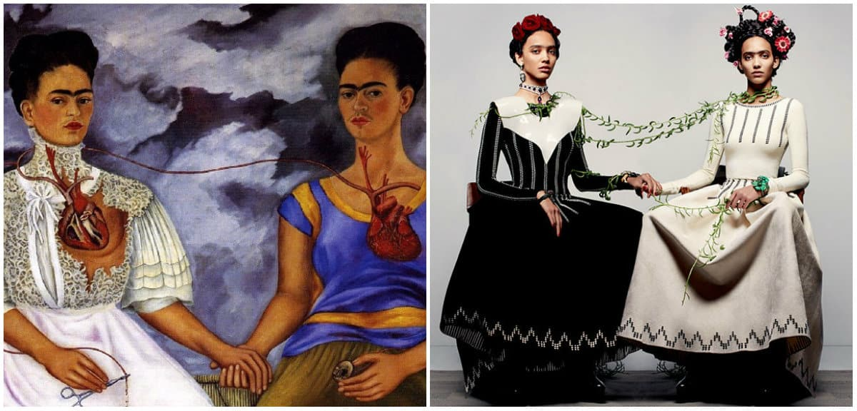 Frida Kahlo Clothing Style: Frida's Self-portrait: Two Fridas