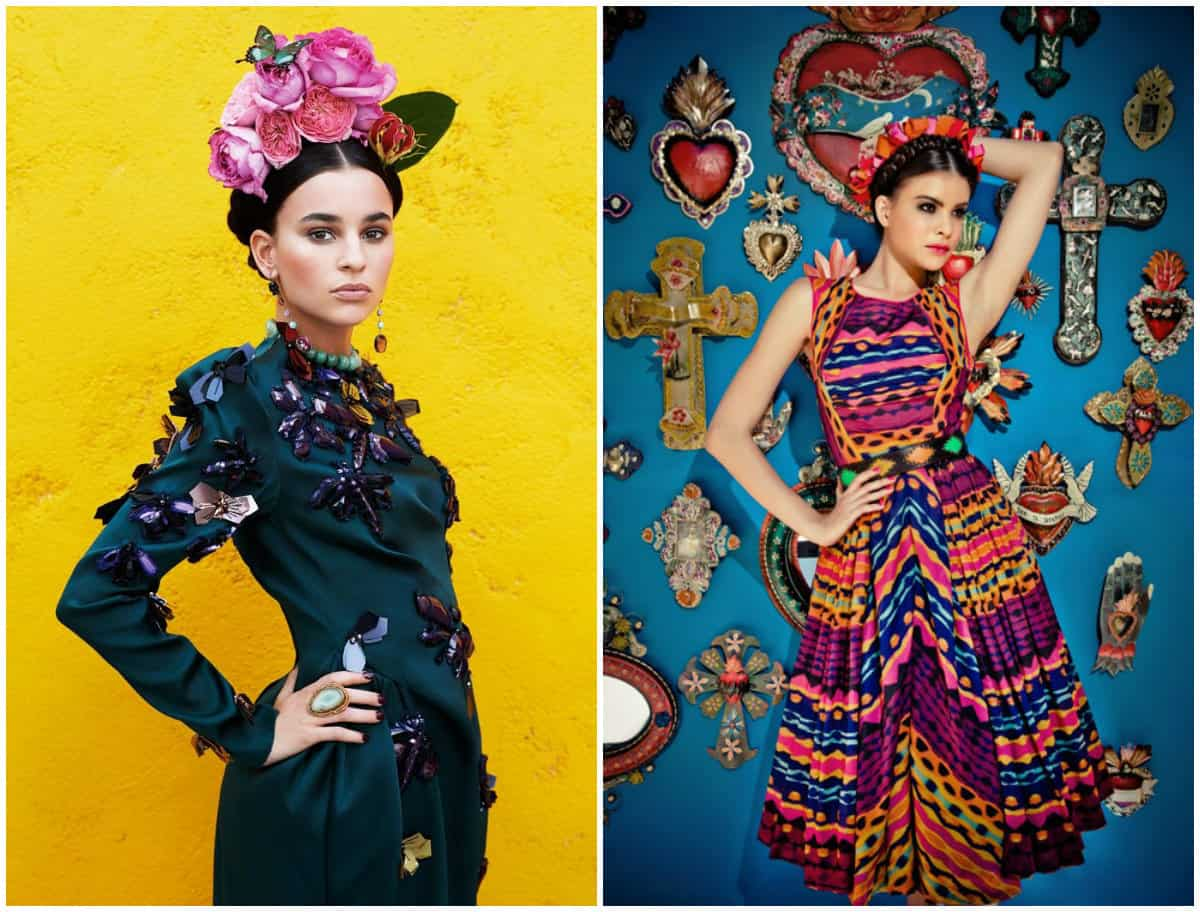 Frida kahlo Clothing Style: Bright-Coloured dresses