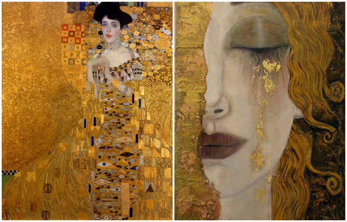 Klimt Clothing Style: Klimt golden phase: artworks