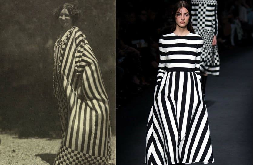 Emilie Flog Clothing Style: Dress in black and white