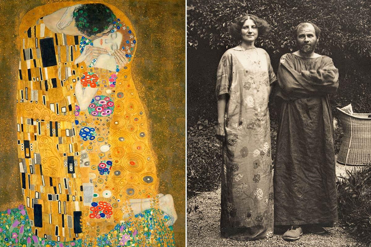 Emilie Floge and Gustav Klimt: The Kiss
