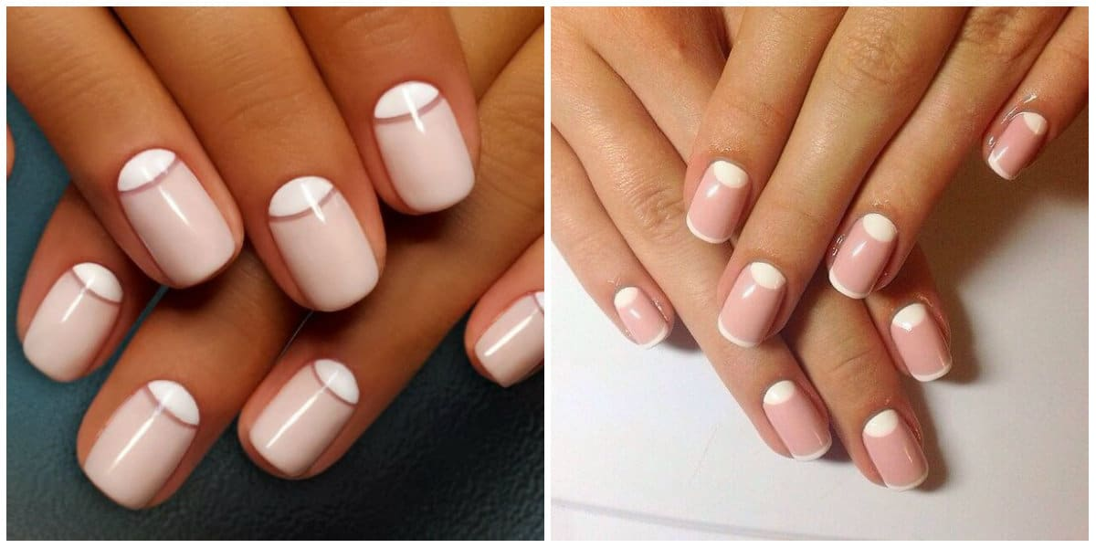 French Nails 2021: Milky color: Gentle Lunar French Style