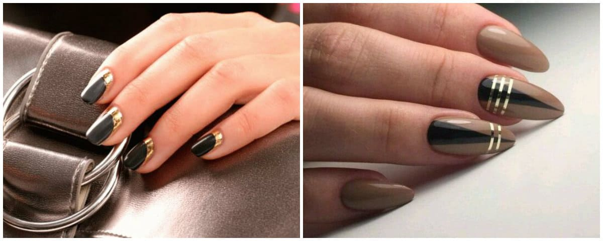 Nail Style 2020: Almond nails with stripes