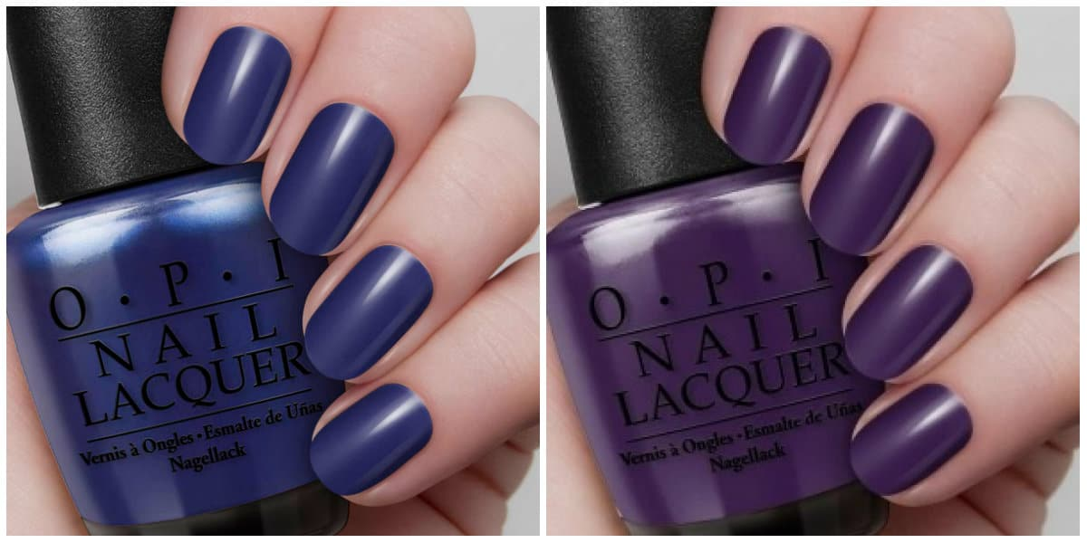 OPI Colors 2019: Dark blue and dark purple nail polishes