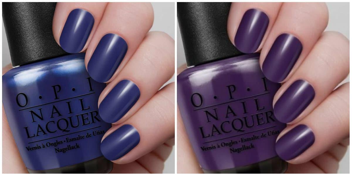 OPI Colors 2019: Dark blue and dark purple nail polishes