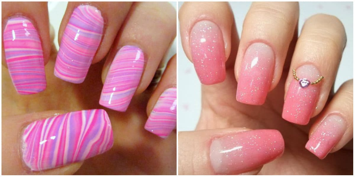 Pink Nails 2021: Pink Nail design on long nails