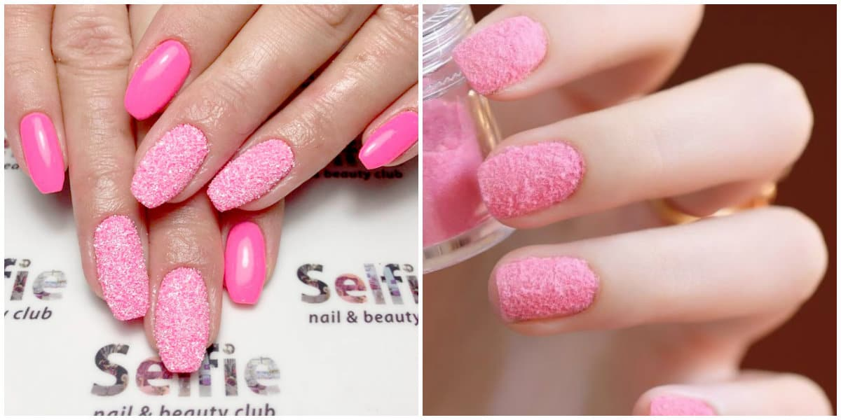 Pink Nails 2019: Pink nail design with effects
