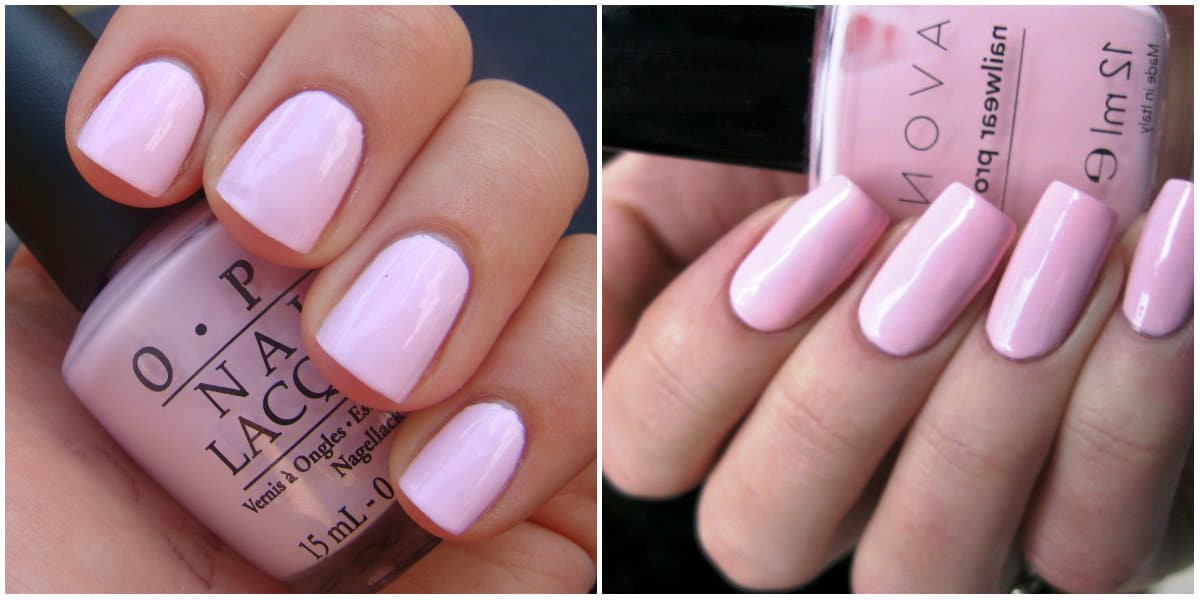 Pink Nails 2021: Pink nail design on short nails : gentle pink color