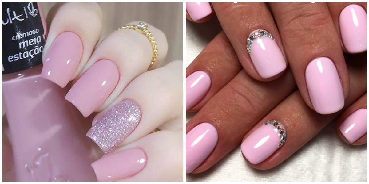 Pink Nails 2021: Light pink nail design