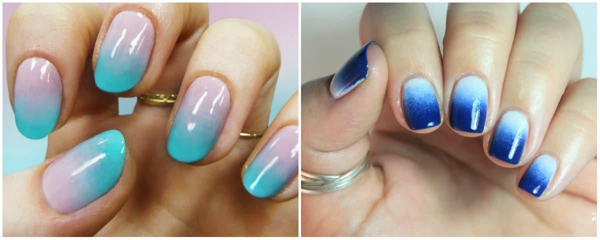 Short nails 2019: Gentle colors on short nails: Short Nails design: Ombre on short nails