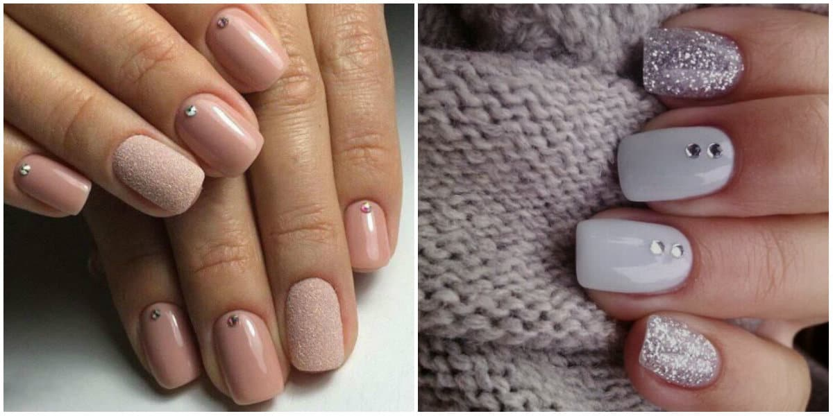 Short nails 2019: Gentle colors on short nails: Short Nails design