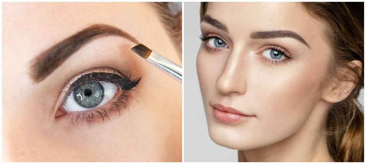 Best Eyebrow Makeup Architecture Of Eyebrows Correction With Makeup