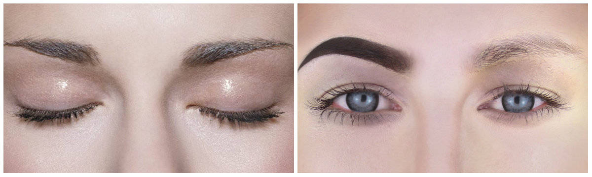 Best eyebrow makeup: Thin eyebrows: Light effects