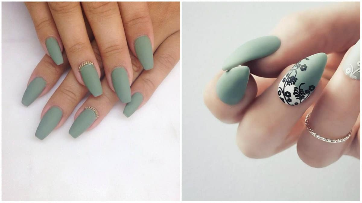 Nail Colors 2019: Sage Green