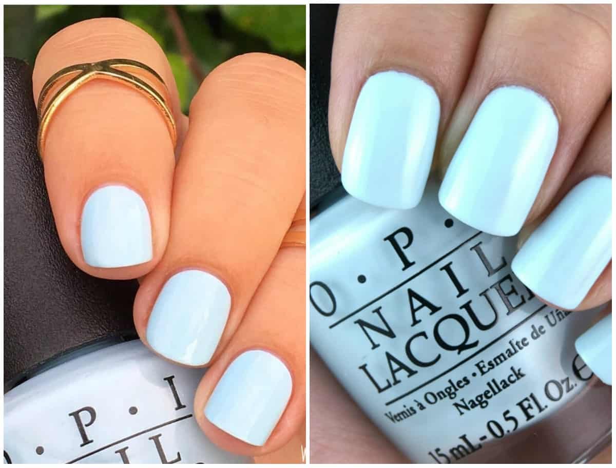 Nail Colors 2019: Powder Blue