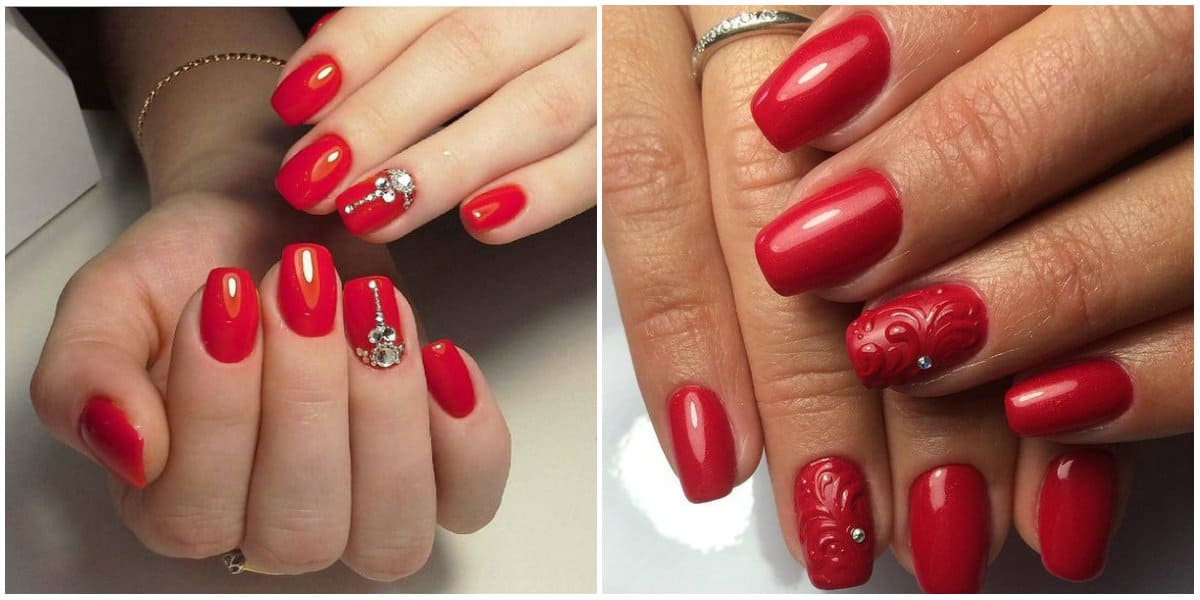 Red nails 2020: Simple and modern nail art
