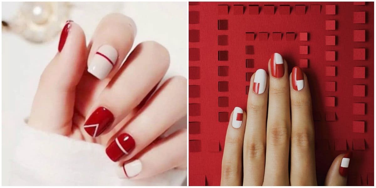 Red Nails 2020: Minimalistic nail art
