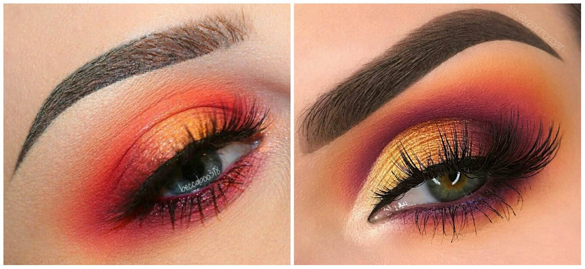 Eyeshadow Palettes 2019: Sunset eyeshadow makeup