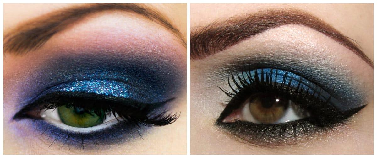 Eyeshadow Palettes 2019: Blue eyeshadow makeup