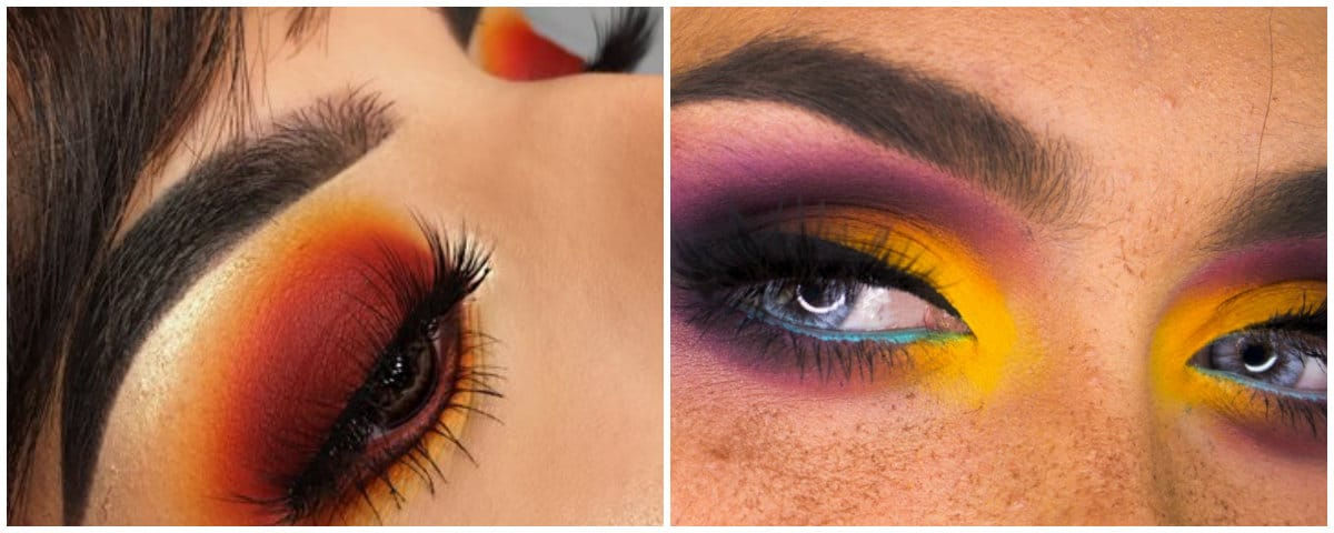 Eyeshadow Palettes 2019: Fiery and sunset eyeshadow makeup