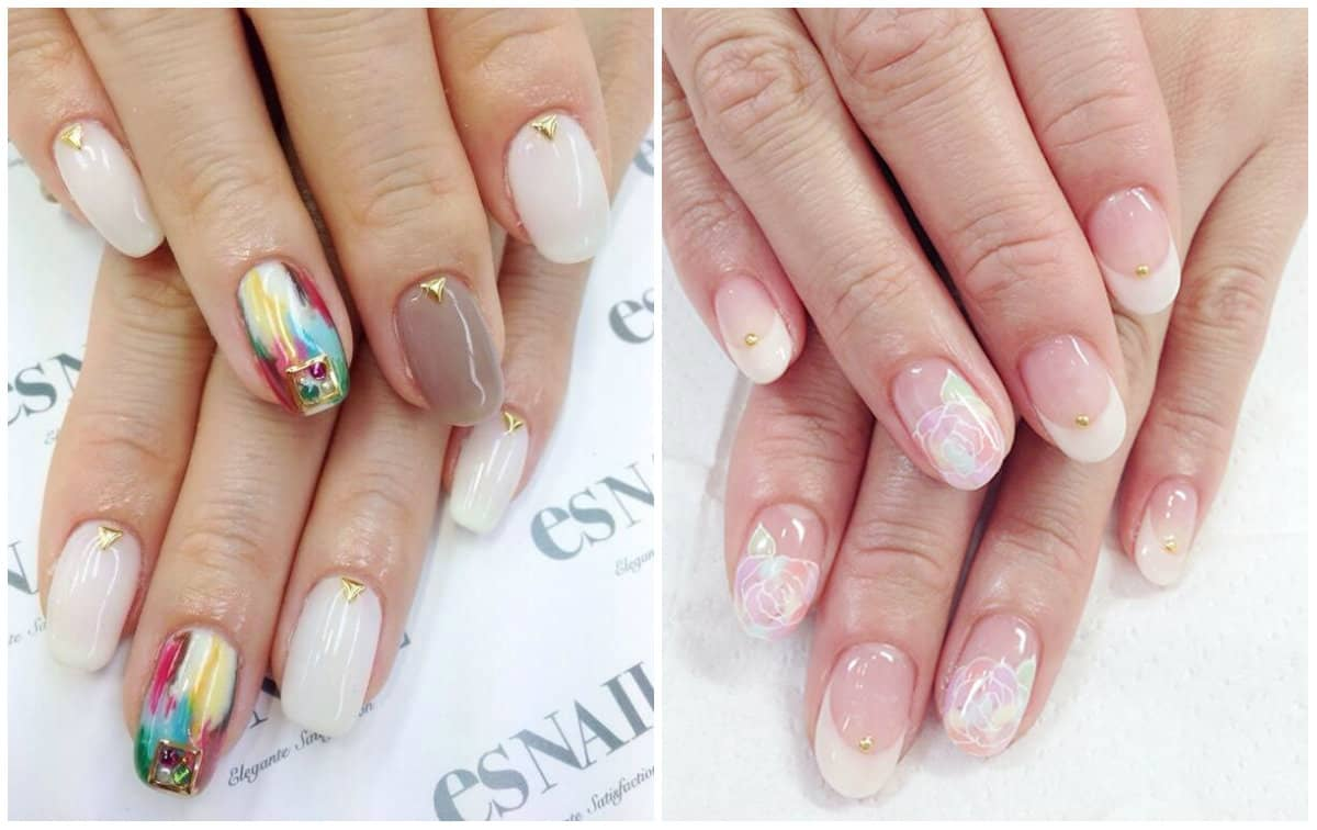 Japanese Nail Art 2019: Gentle Nail Style
