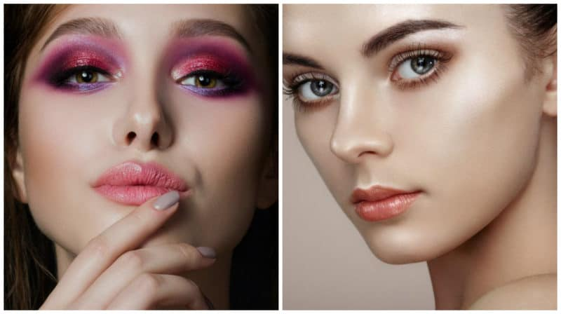 Make up Trends 2019: Eyeshadow splash effect : Nude makeup trend