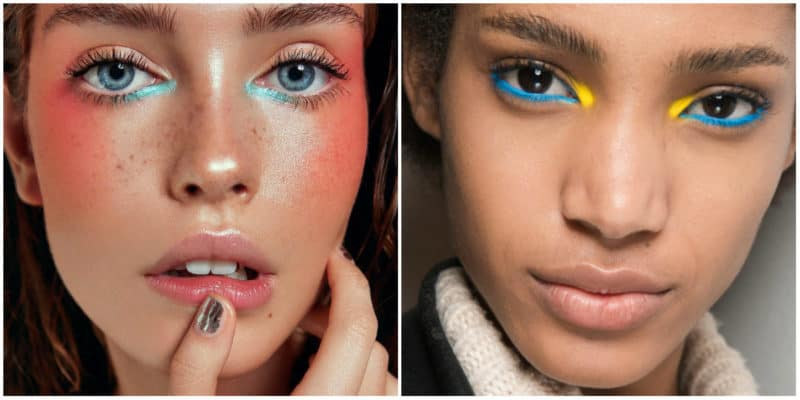 Make up Trends 2019: Colorful Eyeshadow effect: Color mix