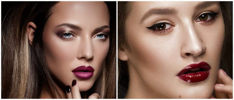 Make up Trends 2019: Trendy makeup look with dark colors