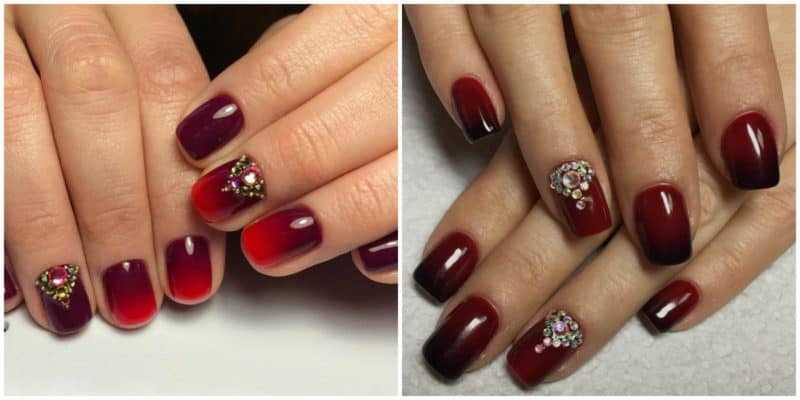NAIL DESIGN 2019: Ombre Nail Design in red