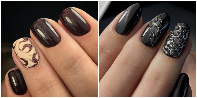 NAIL DESIGN 2019: Nail Design with dark colors