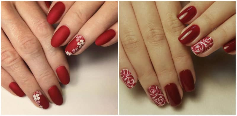 NAIL DESIGN 2019: Red Nail Design with ornaments
