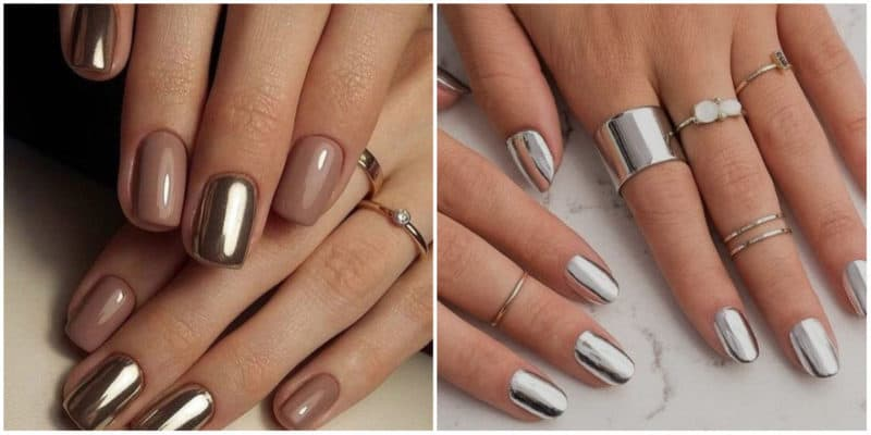 NAIL DESIGN 2019: Futuristic Metallic Nail Design