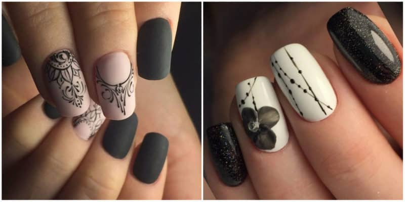 NAIL DESIGN 2019: Minimalist Nail Design with ornaments